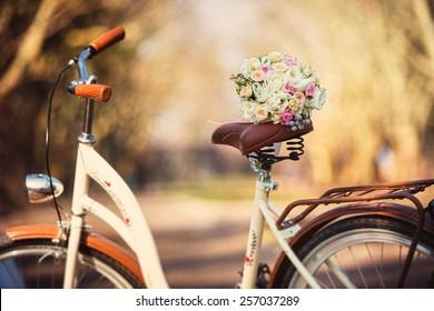 wedding bouquet bike