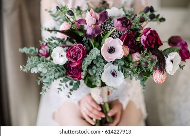 Wedding bouquet. Bride's flowers