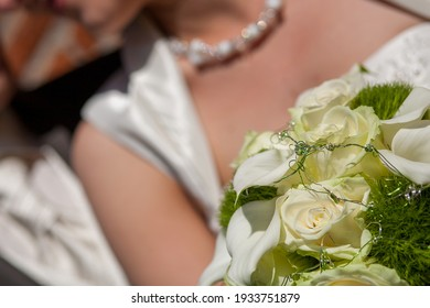wedding bouquet. Wedding couple holding hands. High quality photo