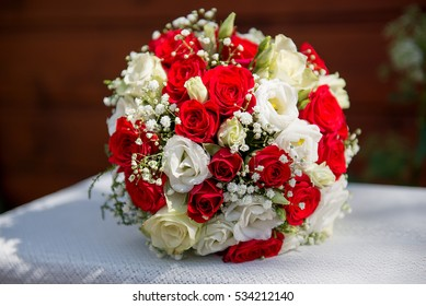 wedding bouquet and decorations