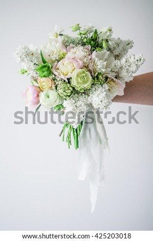 Wedding Bouquet Wedding Bouquet Green Flowers Stock Photo Edit Now