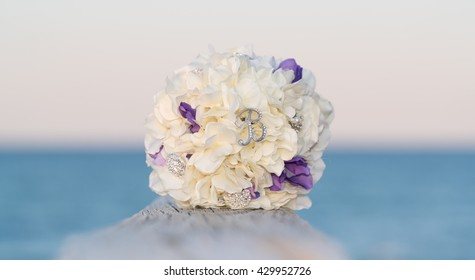 """Wedding Bouquet with letter """"B"""""""