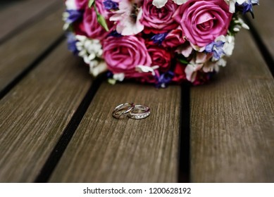 wedding bouquet and rings are important bridal accessories