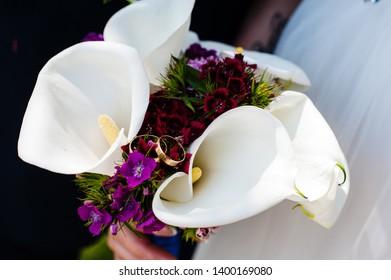 Beautiful Calla Wedding Bouquet Images Stock Photos Vectors