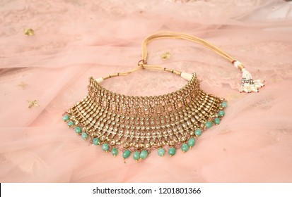 Wedding Bridal Polki necklace choker jewllery se