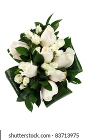 A wedding bunch of flowers on white background