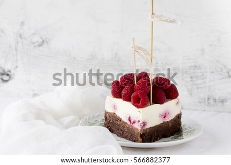 Wedding Cake Birthday Brownie Cheesecake Fresh Stock Photo Edit Now