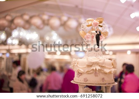 Wedding Cake Chinese Restaurant Hong Kong Stock Photo Edit Now