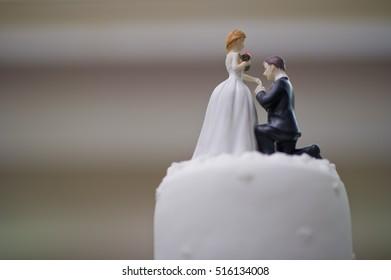 wedding cake doll