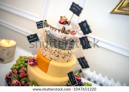 Wedding Cake Made Cheese Stock Photo Edit Now 1047651220