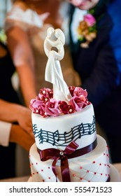 Wedding cake on the table in natural light