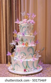 Wedding Cake, Party Cake on 4 tiers