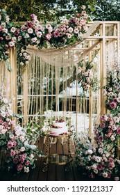 Wedding cake rustic style.