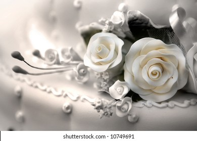wedding cake - sepia