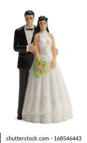 Wedding Cake Topper Isolated on White Background.