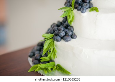 Wedding cakes with berries