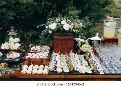Wedding candy and cheese bar