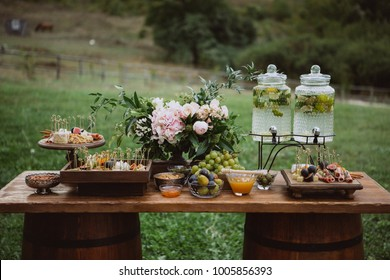 Wedding candy and fruits bar