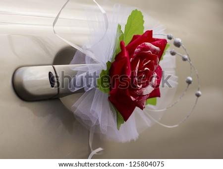 Wedding Car Beautiful Decorations Bouquet Roses Stock Photo Edit