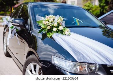 Wedding Car Decor Flowers Bouquet Car Stock Photo Edit Now