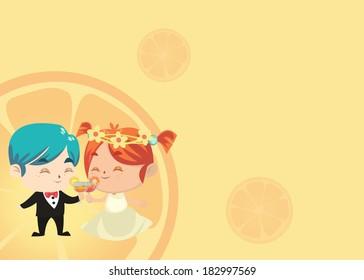 Wedding Card - Irish and Akito Tasting Cocktail