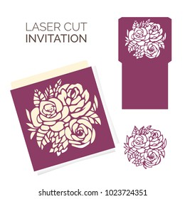 Wedding card laser cut template.