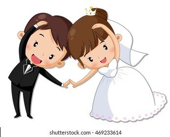 wedding cartoon images stock photos vectors shutterstock rh shutterstock com cartoon pictures wedding couples funny cartoon wedding pictures