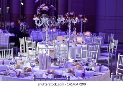 wedding celebration ceremony ballroom decorative tables