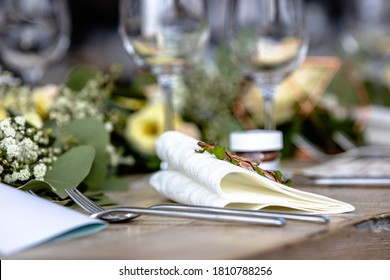 A wedding celebration table with decoration