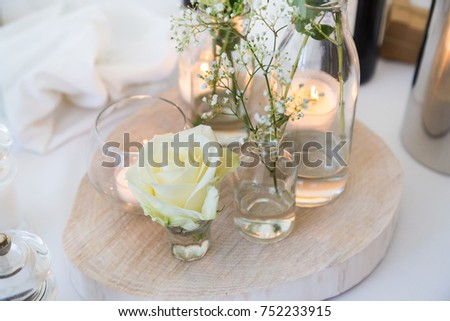Wedding Centerpieces Simple Elegant White Rose Stock Photo Edit Now