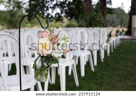 Wedding Ceremony Aisle Decor Stock Photo Edit Now 237915124