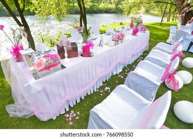 Wedding ceremony decor, table decoration