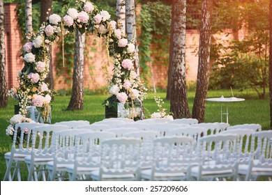 Wedding ceremony decoration