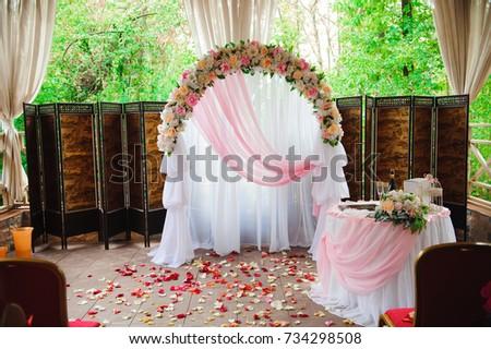 Wedding Ceremony Decoration Wedding Arch Stock Photo (Edit Now ...