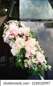 wedding ceremony decoration for the car, beautiful wedding decor