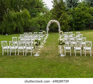 wedding ceremony placed in the garden