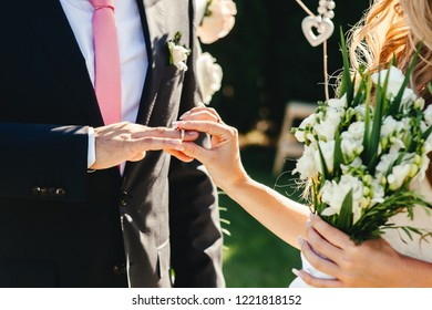Wedding ceremony with rings