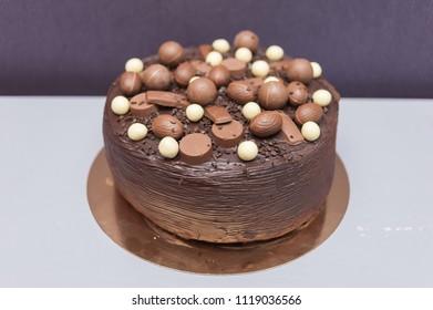 Wedding chocolate cake for celebrations