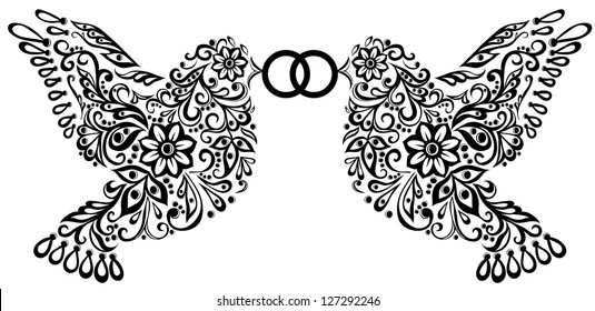 wedding clipart silhouette two birds that stock vector 118493677 rh shutterstock com wedding cliparts in red wedding cliparts in red