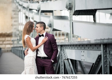 Wedding couple in Budapest