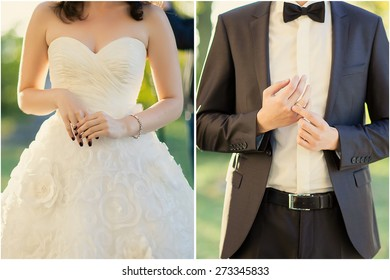 wedding couple dressed in wedding shows