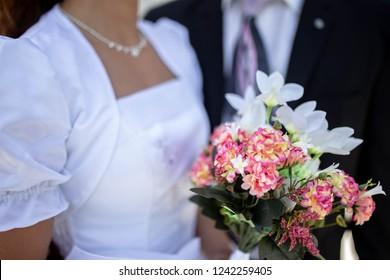 Wedding Couple on Mormon Temple