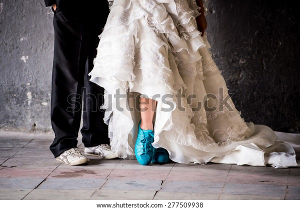 Wedding Couple Shoes Closeup White High Stock Image Download Now