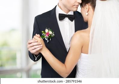Wedding, dance, together.
