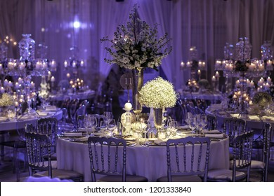Wedding day event organization table setting decor