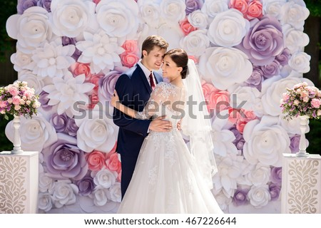 Wedding Wedding Day Paper Flowers Wedding Stock Photo Edit Now