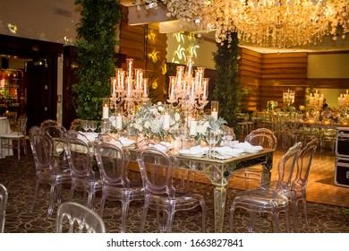 wedding decor candles cake and flowers