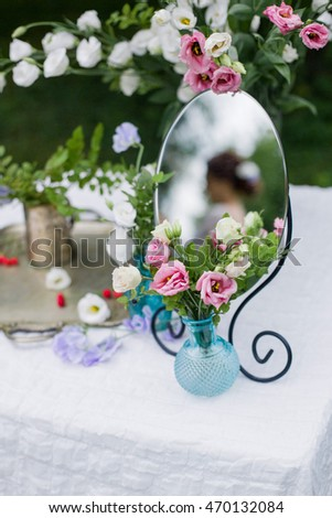 Wedding Decor Pink White Flowers Vase Stock Photo Edit Now