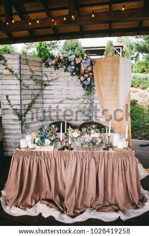 Wedding Decor Spring Flowers Eucalyptus Branches Stock Photo Edit