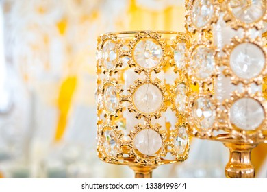 wedding the decorated yellow with fabrics and compositions from fresh flowers,